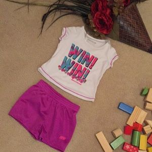 Two piece active shorts set